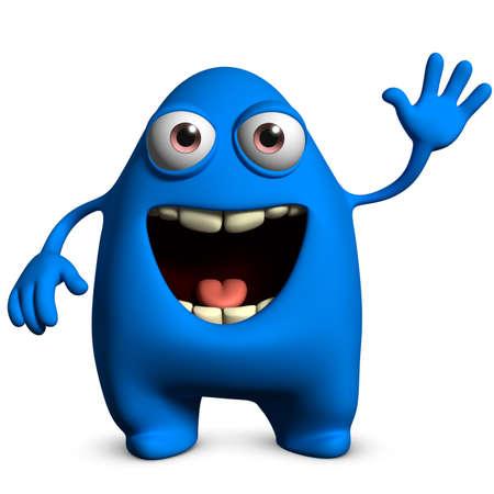 mutant: 3d cartoon cute monster