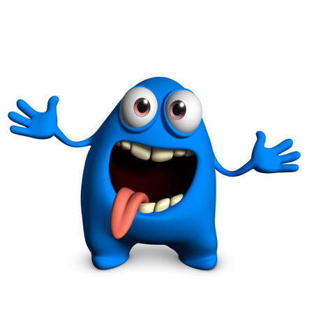 3d cartoon cute monster Stock Photo - 15732171