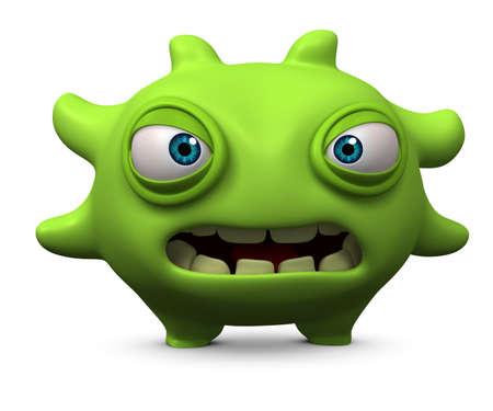 unicellular: 3d cartoon cute monster