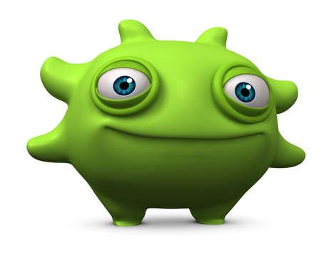 computer bug: 3d cartoon bug