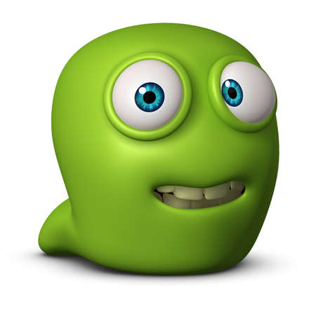 3d cartoon cute worm