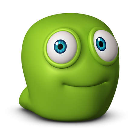3d cartoon cute worm Stock Photo - 15732147