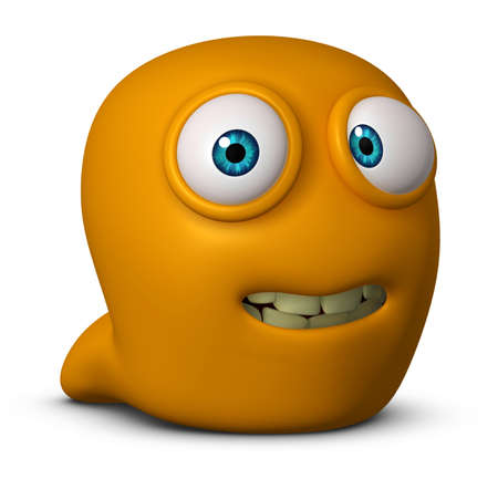3d cartoon cute worm photo