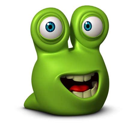 ojos caricatura: Dibujos animados lindo 3d gusano