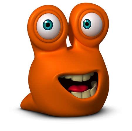 germ: 3d cartoon alien