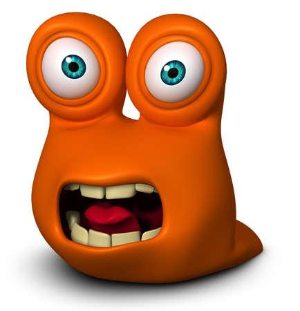 gusano caricatura: Dibujos animados lindo 3d gusano