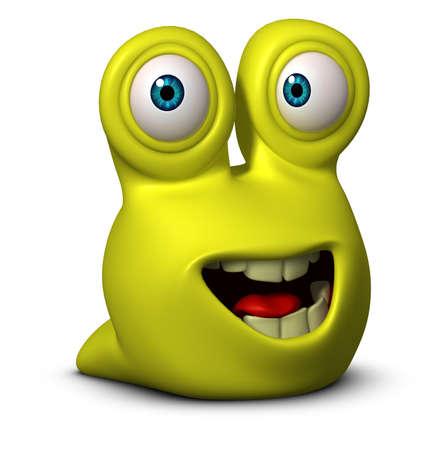 cartoon larva: 3d cartoon cute worm