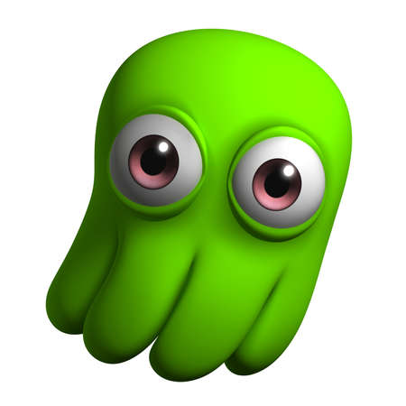 3d cartoon cute octopus Stock Photo - 15732063