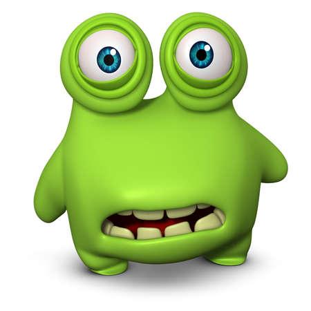alien cartoon: 3d cartoon bug