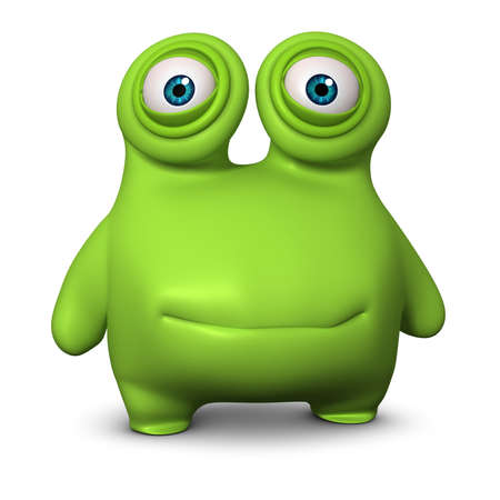 3d cartoon cute virus Stock Photo - 15732005