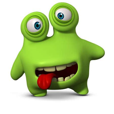 3d cartoon cute virus