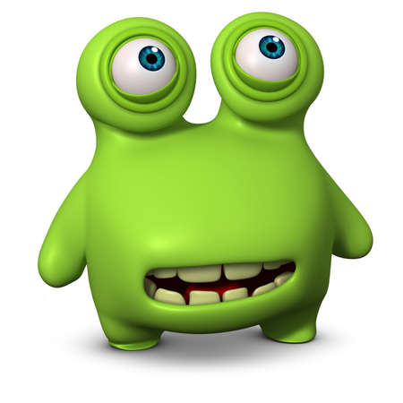 germ: 3d cartoon cute virus Stock Photo