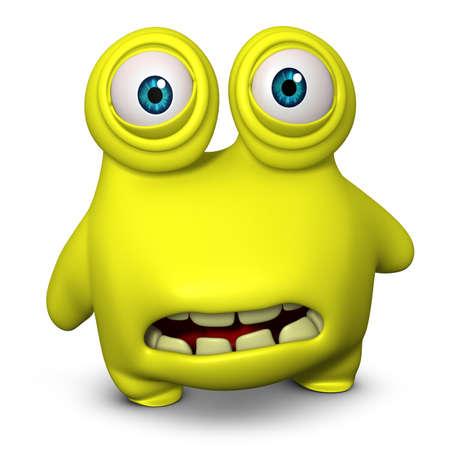 unicellular: 3d cartoon cute virus Stock Photo