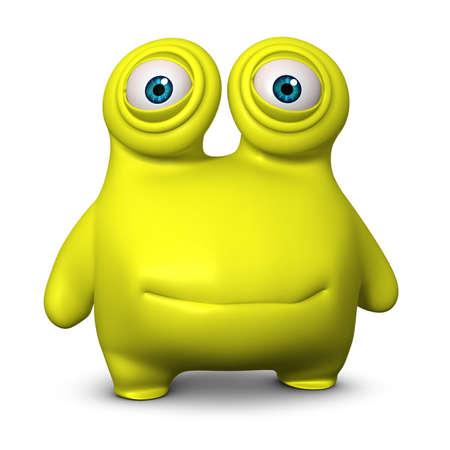 freak: 3d cartoon cute virus Stock Photo