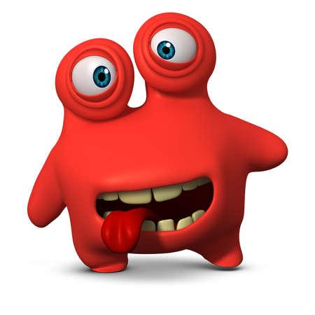 3d cartoon cute freak Imagens