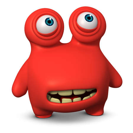 3d cartoon cute monster Stock Photo - 15732012
