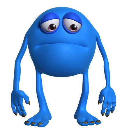 unicellular: cartoon monster Stock Photo