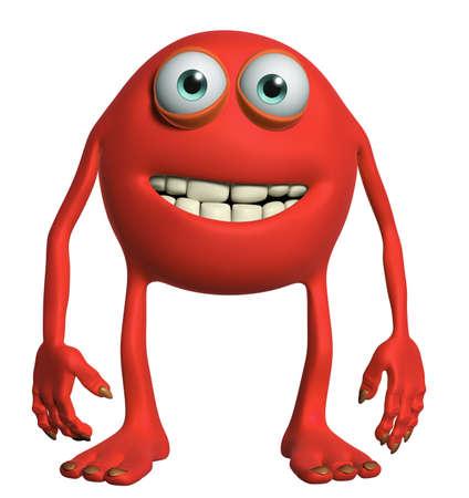 freak: happy cartoon monster