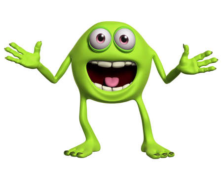 happy cartoon monster photo