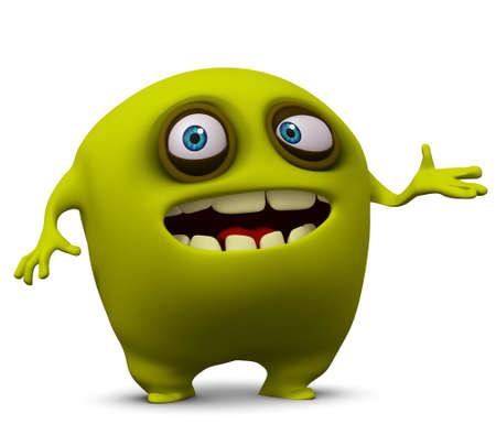 unicellular: 3d cartoon cute freak Stock Photo