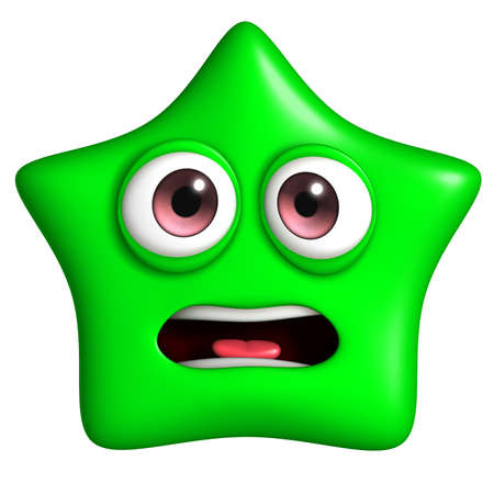 star cartoon: 3d cartoon star Stock Photo