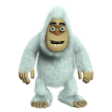 yeti: 3d cartoon cute monster