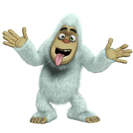 yeti: cartoon crazy white yeti