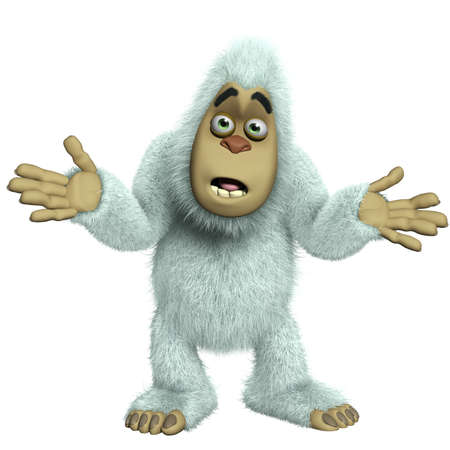 yeti: cartoon yeti