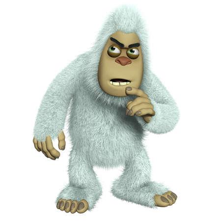 abominable: cartoon white freak