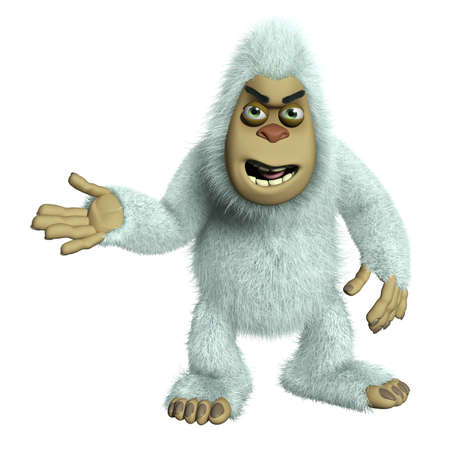 yeti: cartoon white alien
