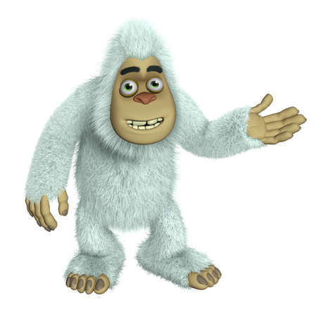 yeti: cartoon white bigfoot