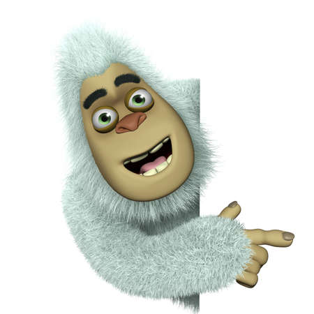yeti: cartoon cute bigfoot Stock Photo