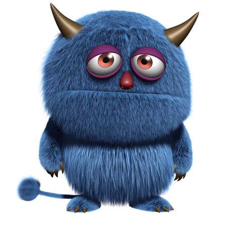 furry: 3d cartoon blue furry alien