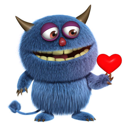 abominable: love monster Stock Photo