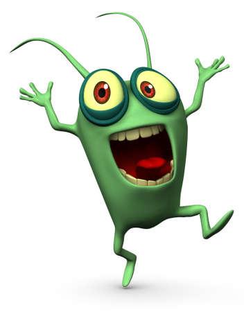 virus informatico: 3d dibujos animados lindo germen
