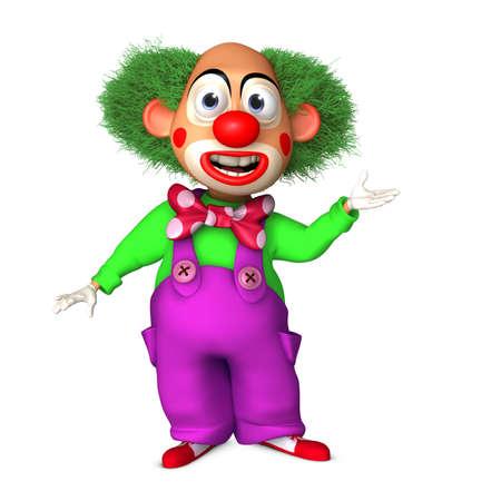 clown birthday: 3d cartoon clown
