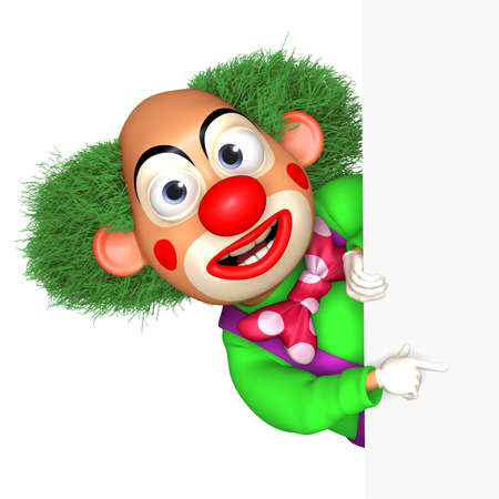 cartoon circus: cartoon clown Stock Photo
