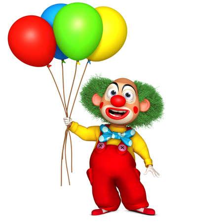 baloon: cartoon clown Stock Photo