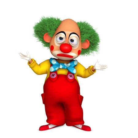 clown birthday: cartoon clown Stock Photo