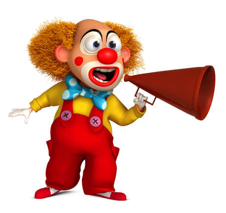 3d cartoon clown photo