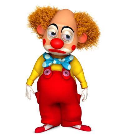 3d cartoon clown