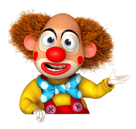 cartoon circus: 3d cartoon clown