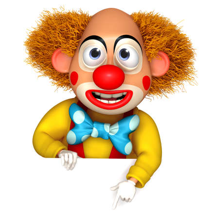 circus clown: 3d cartoon clown