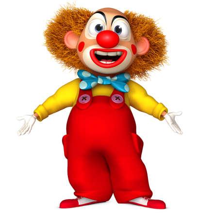 3d cartoon clown