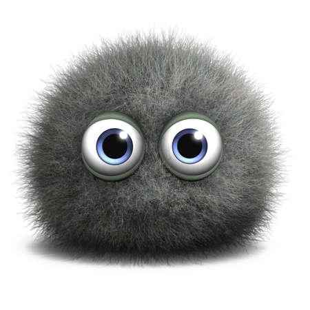 Dibujos animados 3d monstruo peludo Foto de archivo