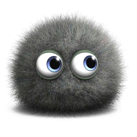polvo: Dibujos animados 3d lindo monstruo Foto de archivo
