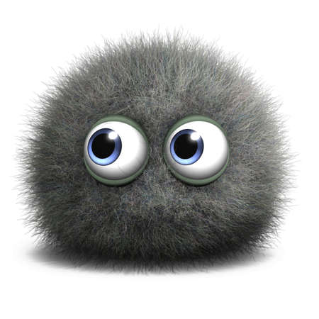fuzzy: 3d cartoon bug