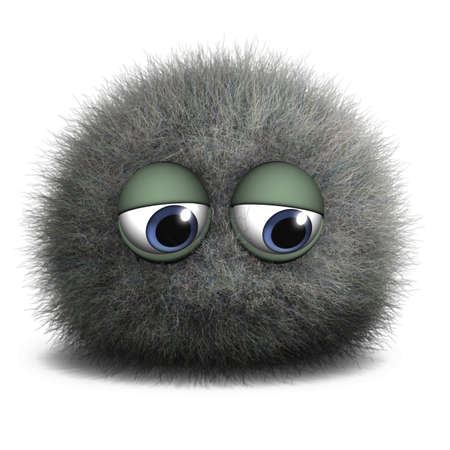 hairy adorable: 3d cartoon cute monster