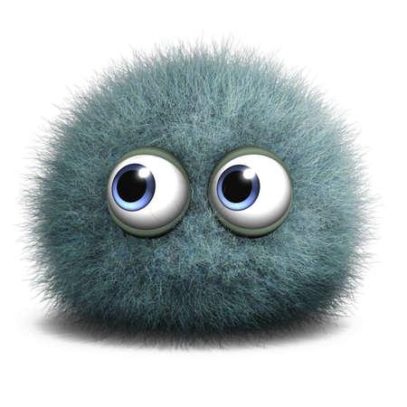 fluff: 3d cartoon furry monster