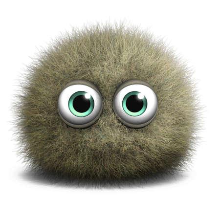 부드러운 털의: 3D 만화 귀여운 괴물